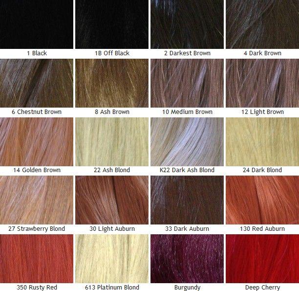 Kanekalon Silky Straight Color Chart