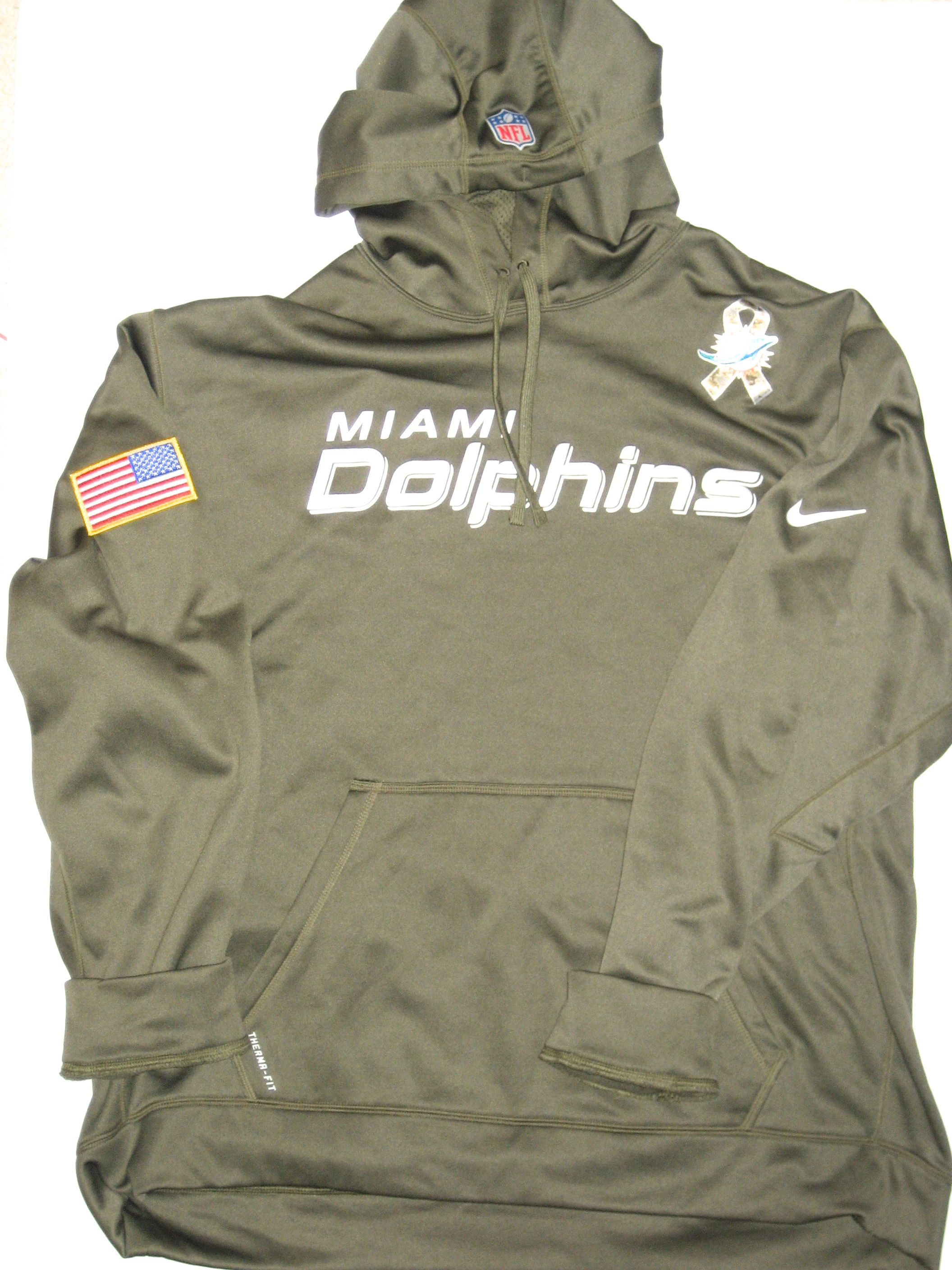 8724c4de6 AJ Francis Player Issued Miami Dolphins  96 Salute to Service Nike 3XL  Hoodie