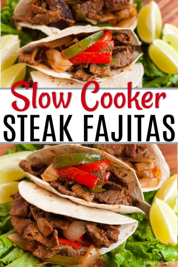Slow Cooker Steak Fajitas Recipe - Only 5 ingredients