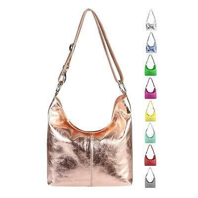 Photo of ITAL LADIES LEATHER BAG Metallic SHOPPER Shoulder bag Shoulder bag Hobo bags …
