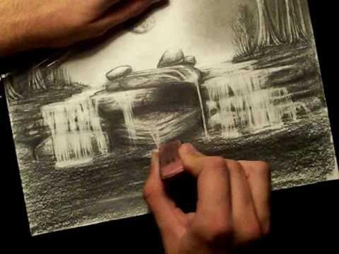 87437aba0aa8feea7dd0d454df76b65f » Realistic Pencil Waterfall