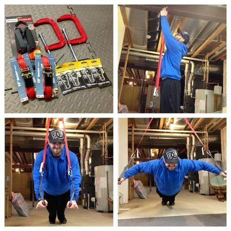 diy trx straps  diy home gym diy gym equipment diy gym