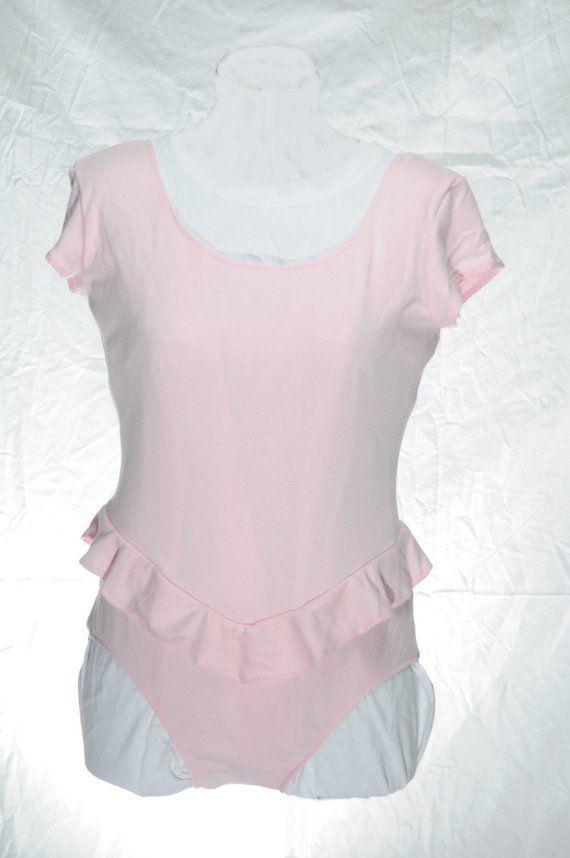85ef09c82c2b ABDL Little ruffled onesie - baby pink