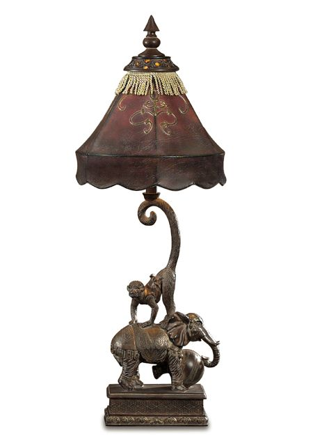 Monkey And Elephant Lamp Interesting Objects Pinterest