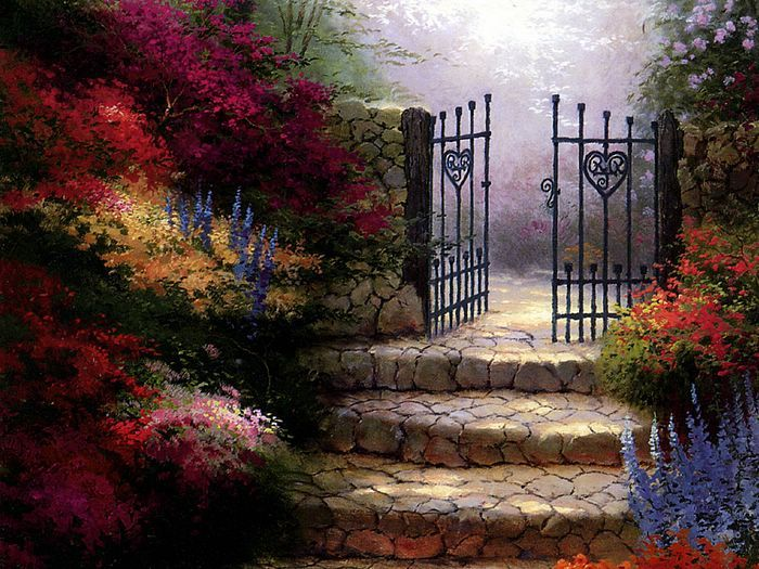 Beyond The Garden Gate 10 Thomas Kinkade With Images Thomas