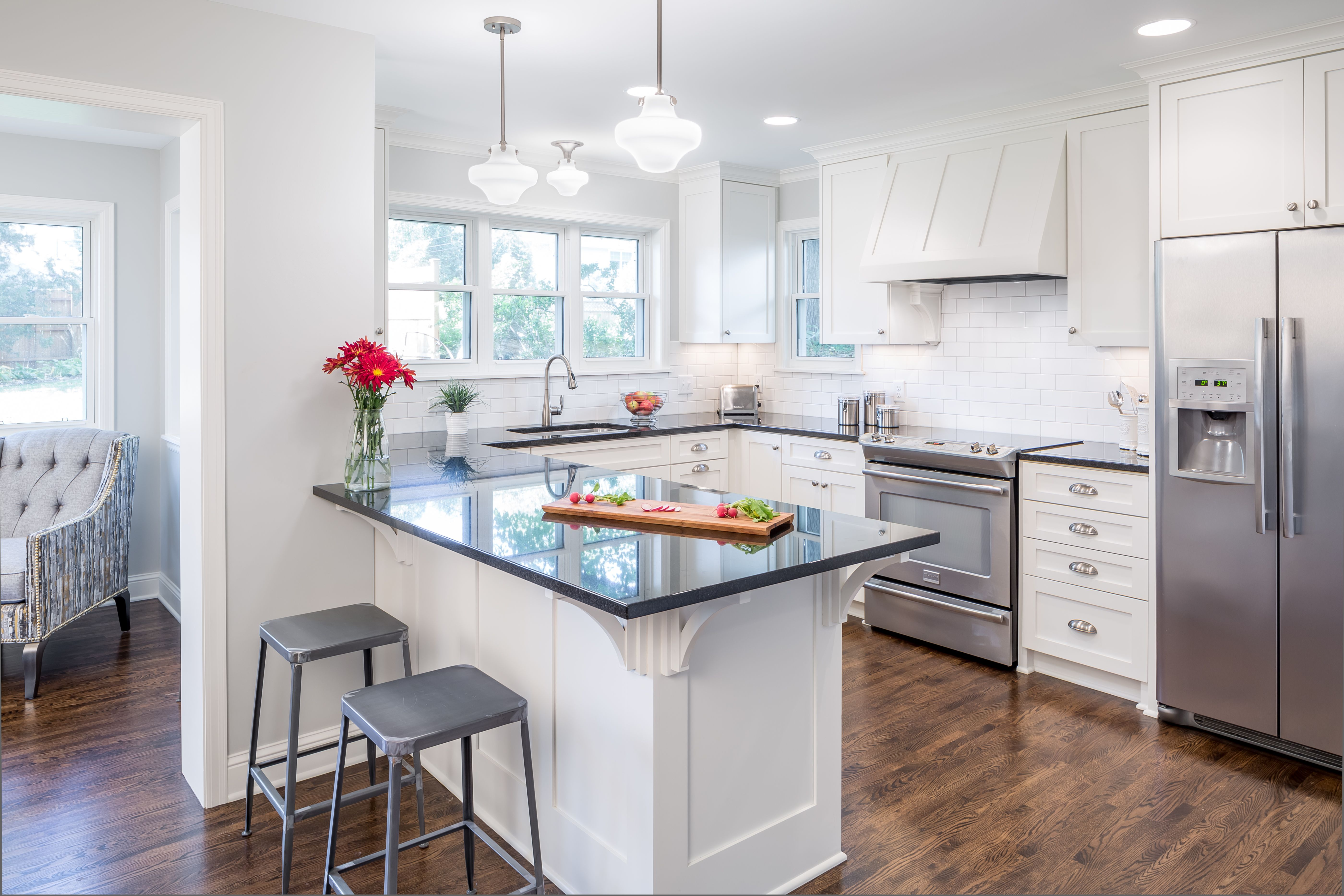 Classic Kitchen. Clean white cabinets and timeless subway tile ...