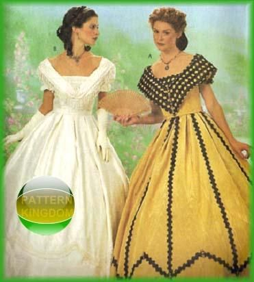 BALL GOWN BODICE SEWING PATTERN HISTORICAL CIVIL WAR VICTORIAN WOMAN REENACTOR