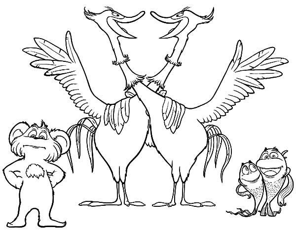 The Lorax Movie And Chidren Book Coloring Sheet | Seuss | Pinterest ...
