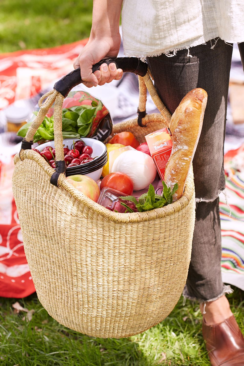Picnic Basket Food : Bread and cheese picnic essentials weekend vibes