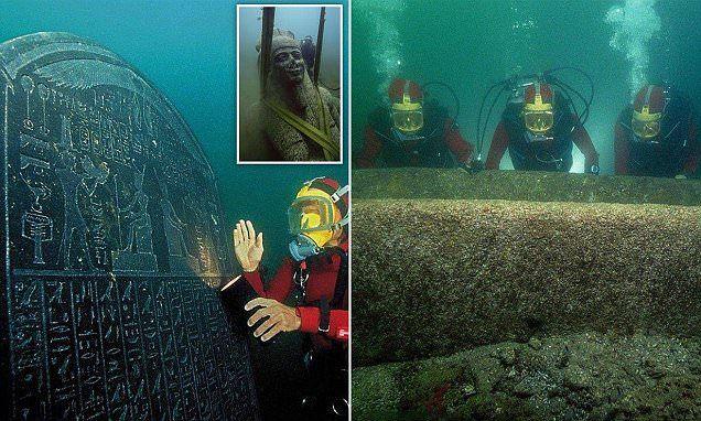 Ancient Egyptian treasures of sunken cities go on show