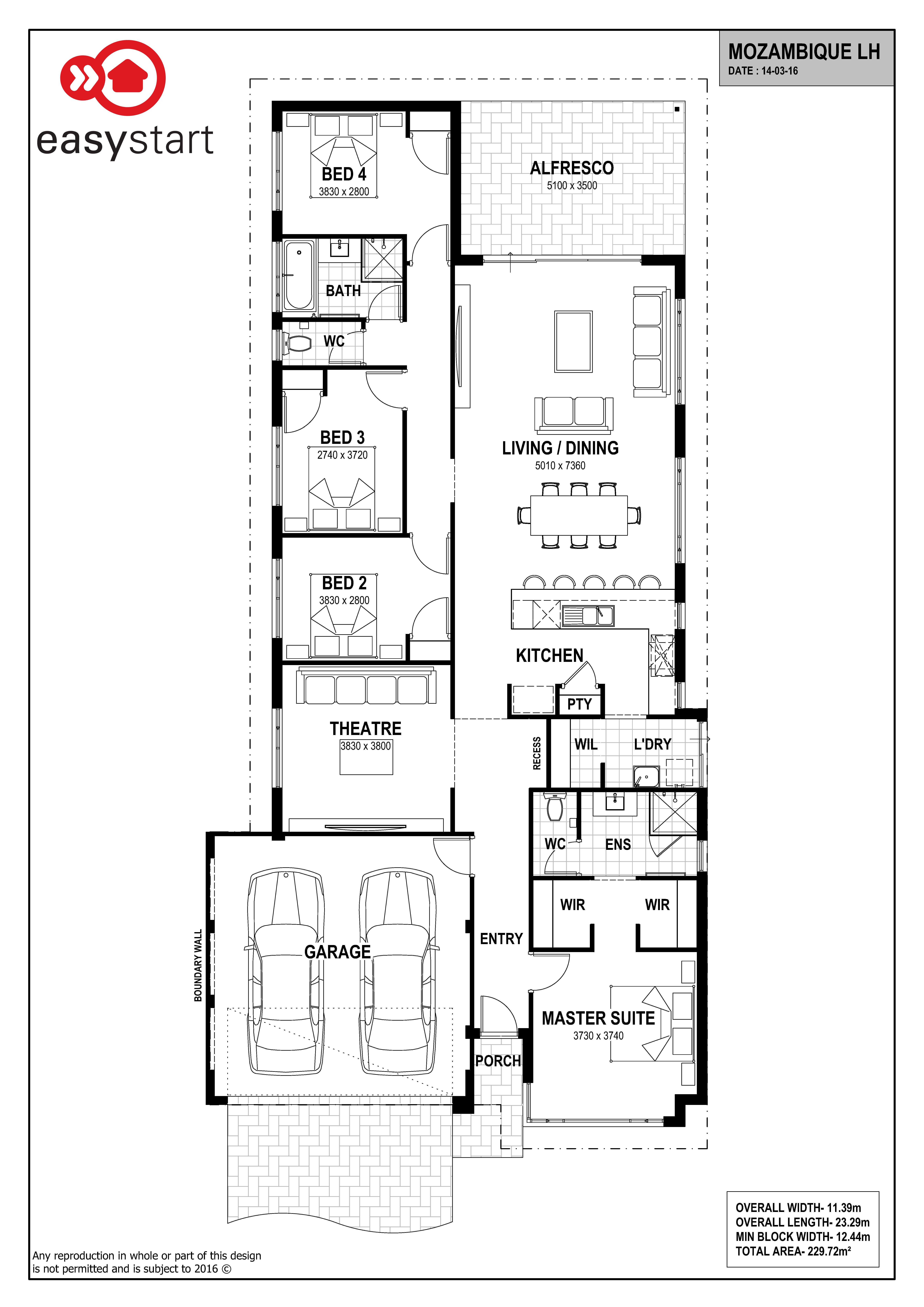 Mozambique | Easystart Home Designs Perth | 2017 House Plans ...