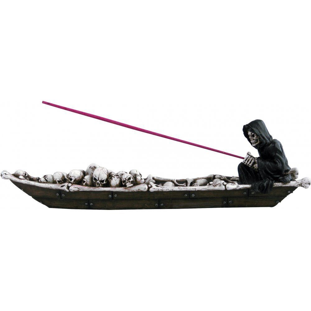 Reaper In Boat Gothic Incense Holder
