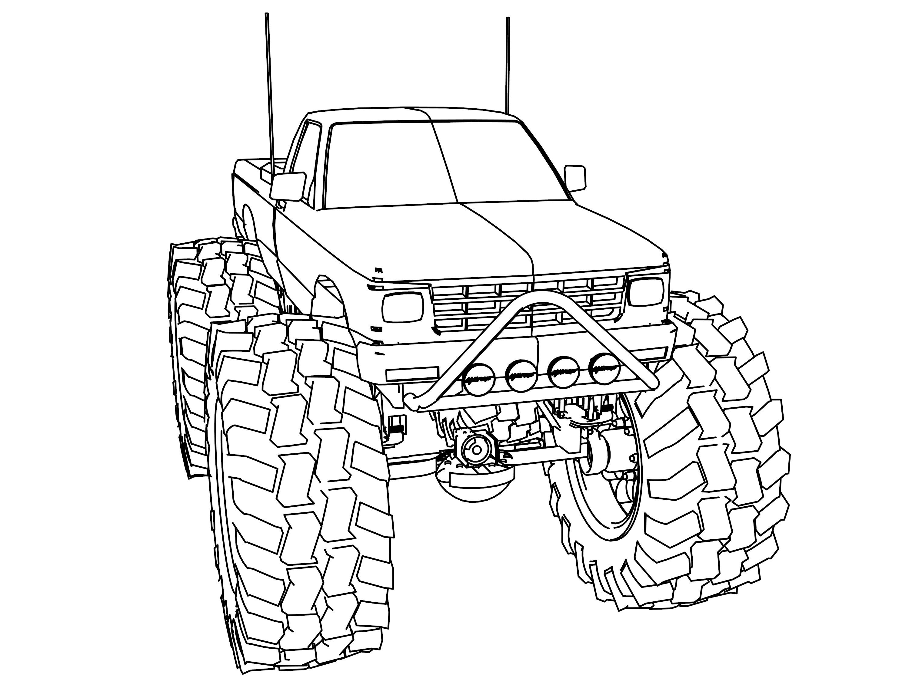 Monster Truck Coloring Pages Monster Truck Coloring Pages Truck Coloring Pages Barbie Coloring Pages