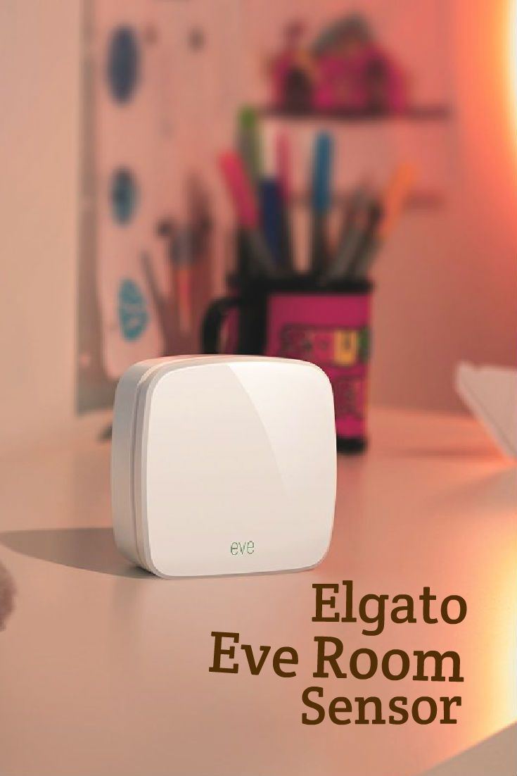 Elgato Eve Room Wireless Indoor Air Quality Temperature Humidity Sensor fo Apple