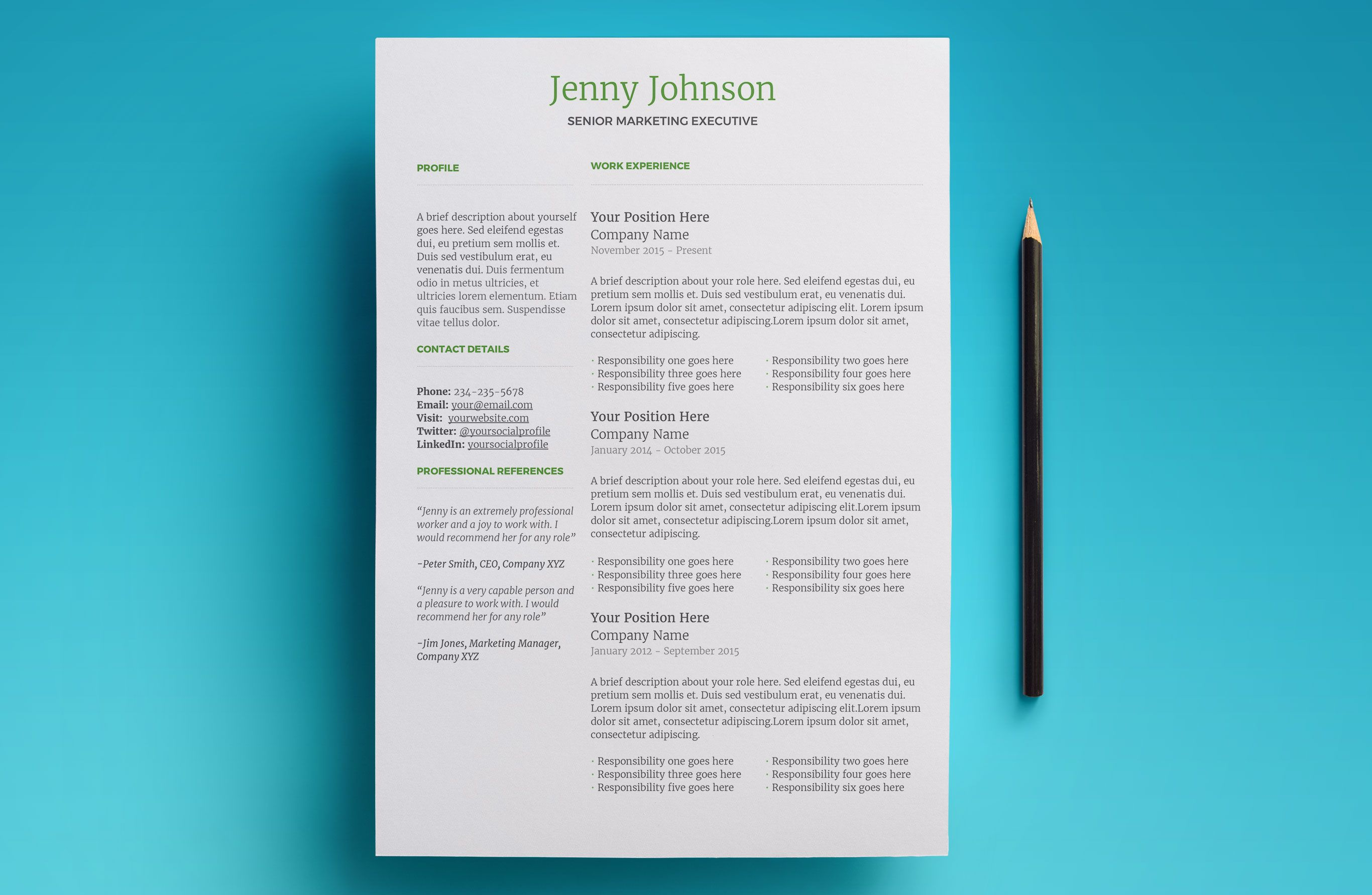 Introducing Huffington. A modern resume template for