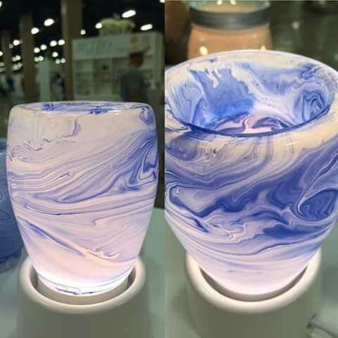 Scentsy Blue Watercolor Plug In Warmer Nib Fashion Home