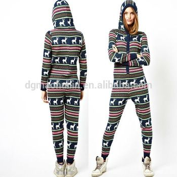 Christmas clothing fashion ladies one piece jumpsuit