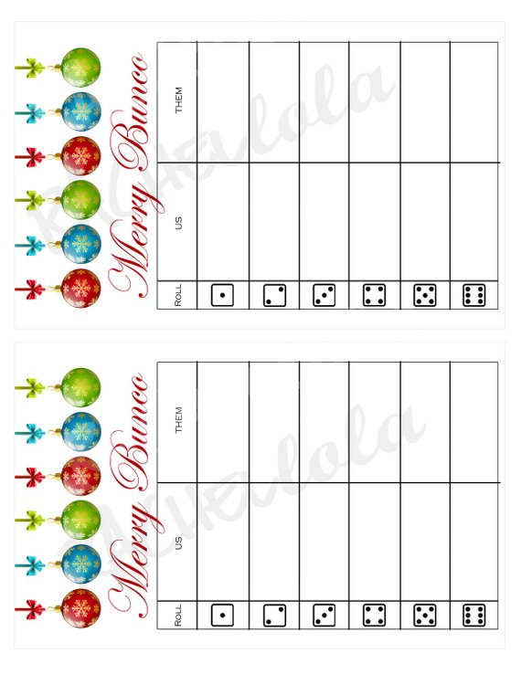 picture about Free Printable Bunco Table Tally Sheets identify Xmas ball Bunco, Desk tally sheets, us them tally
