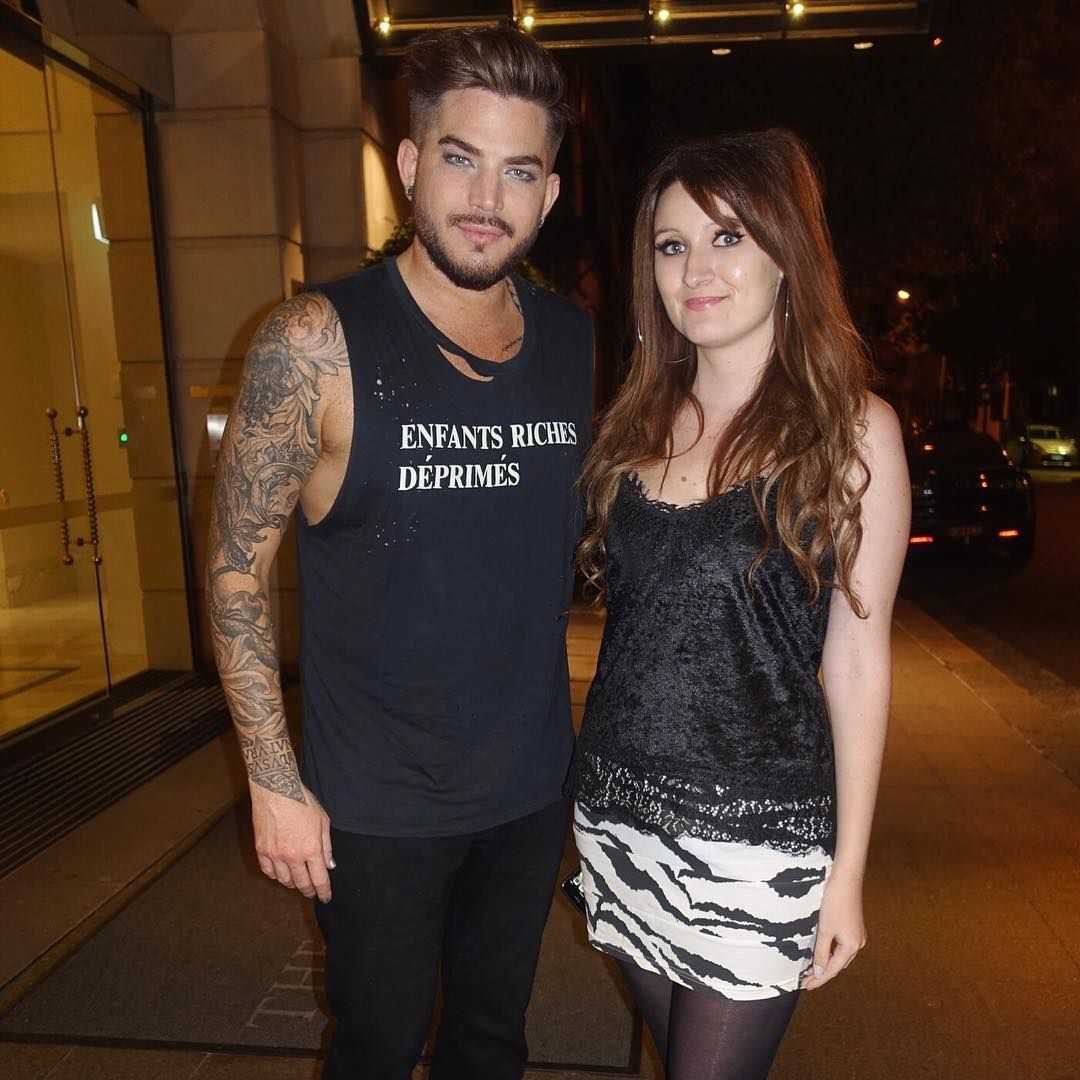 Adam lambert and i after the queen concert the other night