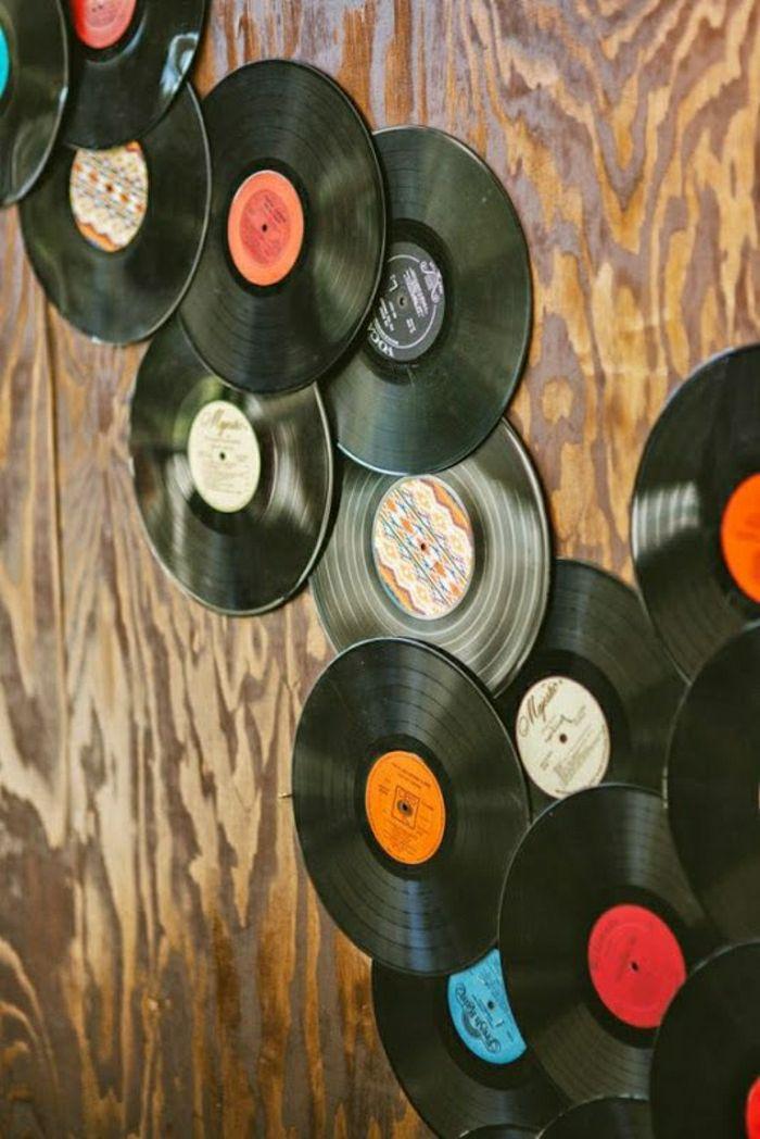 Originelle diy ideen mit schallplatten vinyls for Originelle zimmer deko