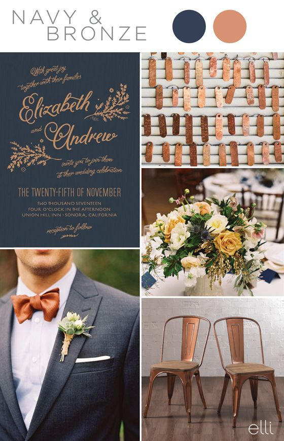 Top 5 Navy Blue Color Palettes For 2017 Weddings Wedding