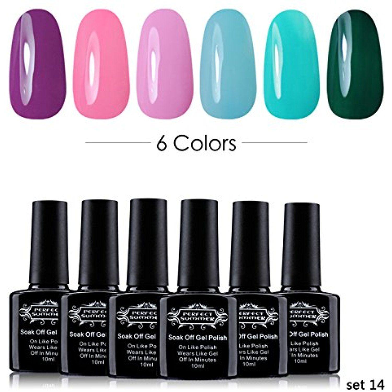 Gel Nail Polish Kit Nail Art - French Manicure Pedicure UV LED Soak ...