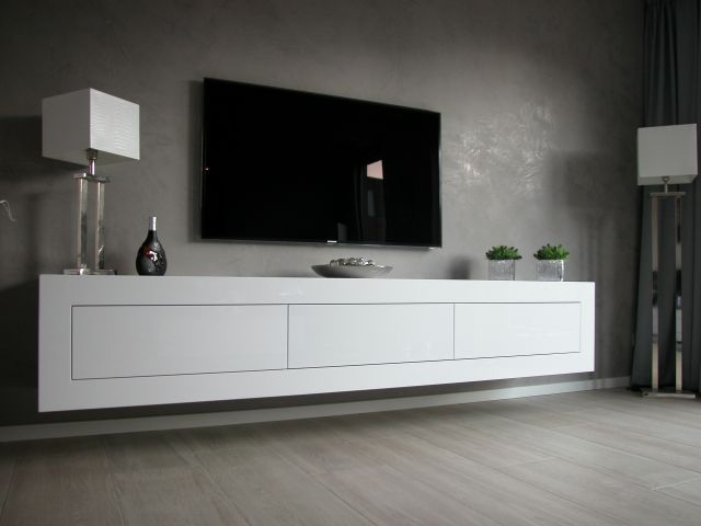 zwevend dressoir expression bron artyx nl interieur pinterest tvs tv walls and. Black Bedroom Furniture Sets. Home Design Ideas