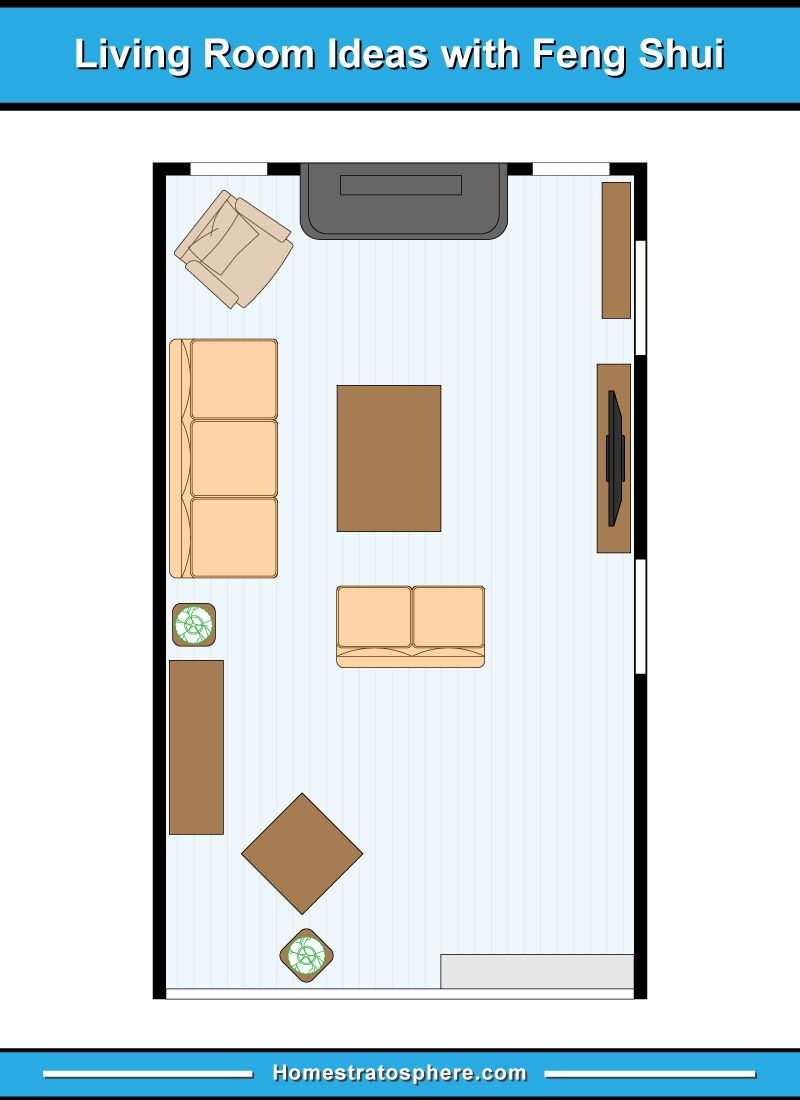 81 Feng Shui Living Room Rules Colors And 12 Layout Diagrams Feng Shui Living Room Livingroom Layout Feng Shui Living Room Layout
