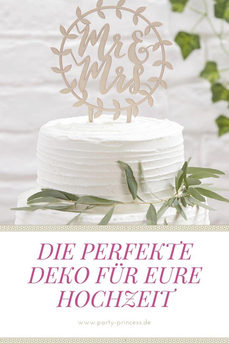 Tolle Tortendeko Mr Mrs Aus Holz Um Eure Hochzeitstorte Sehr