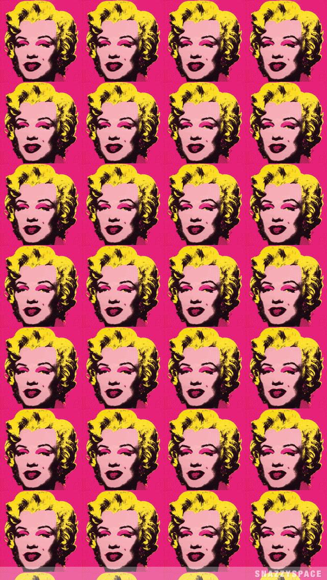 Marilyn Monroe Iphone Wallpaper Background Pop Art