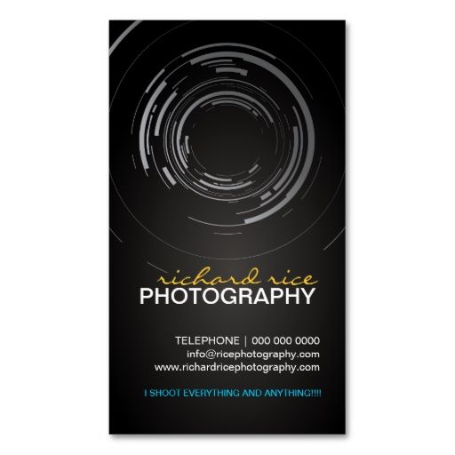 Modern photographer business cards reheart Image collections