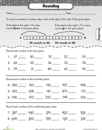 Let\'s Go Rounding! | Escolares y Números
