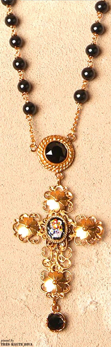 Dolce   Gabbana Cross Necklace   The House of Beccaria   Accessories ... 41b8482ea1