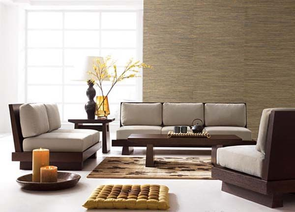 Asian Style Living Room Furniture Sets