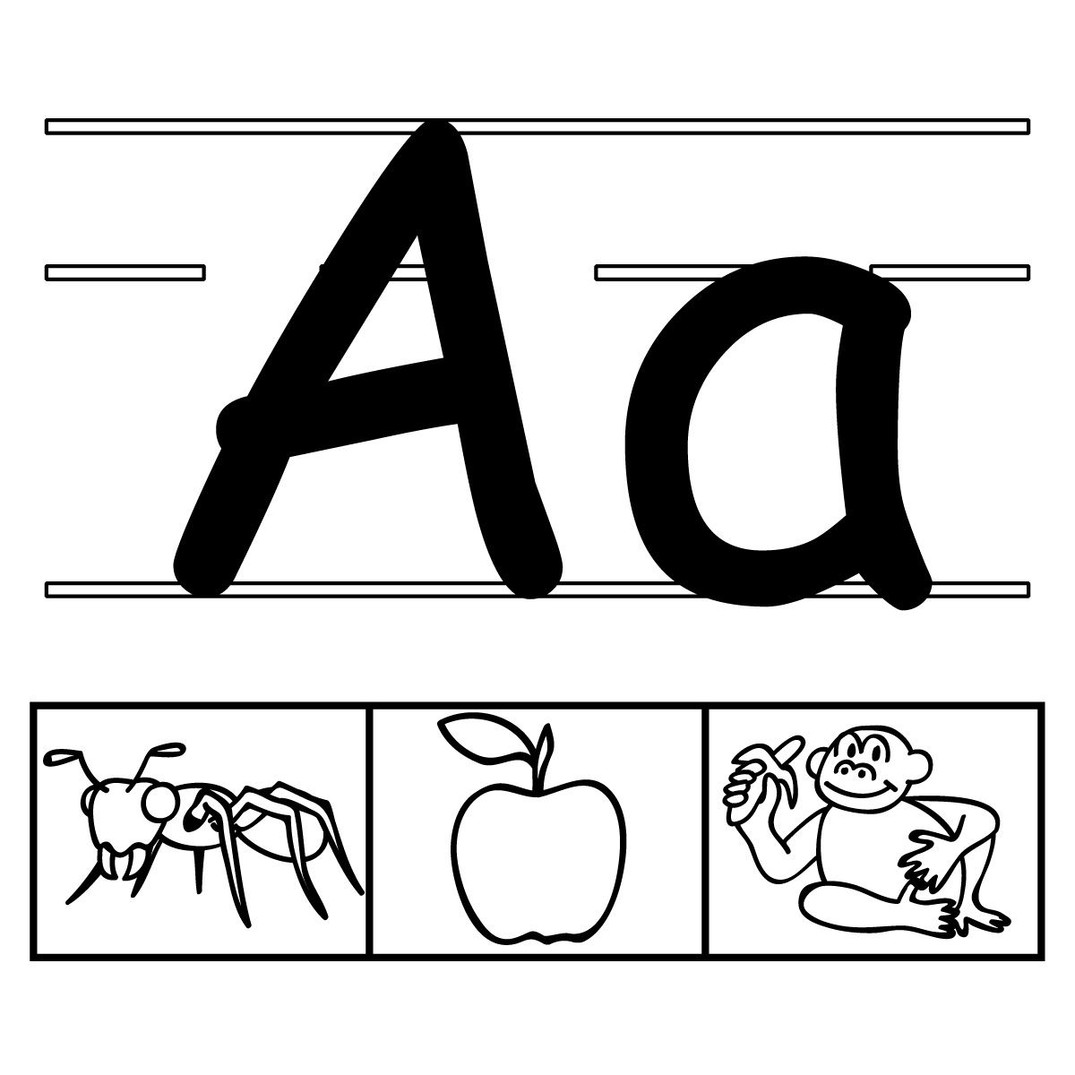 alphabet printables with 3 images for each letter (scroll
