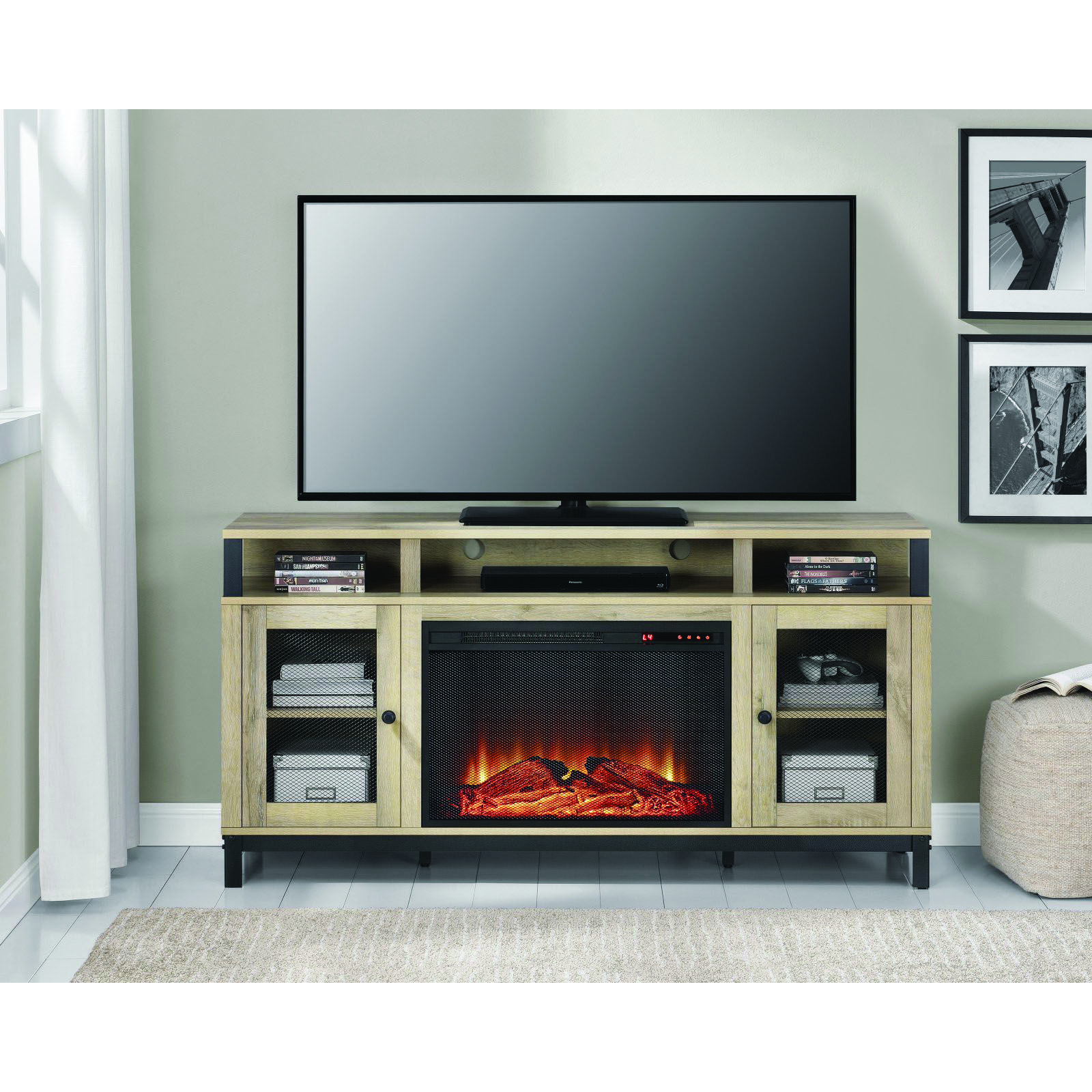 Unique Fireplace Tv Stand Bjs For Your Cozy Home Fireplace Tv