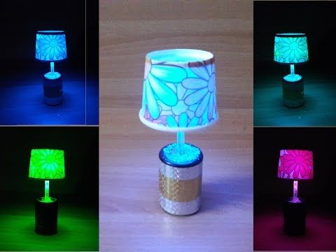 DIY LED table night lamp with easily available and