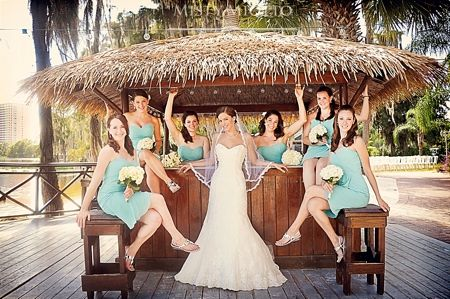 Beautiful Beach Wedding Photos At Paradise Cove In Orlando Florida