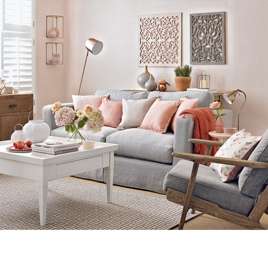 Modern Furniture Colorful Living Rooms Decorating Ideas 2012: Colour School: Decorating With Peach & French Grey