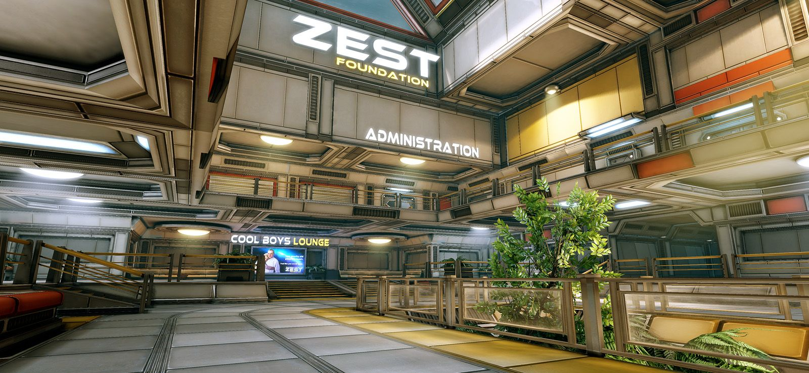 Hitech research facility (UDK environment) Spaceship