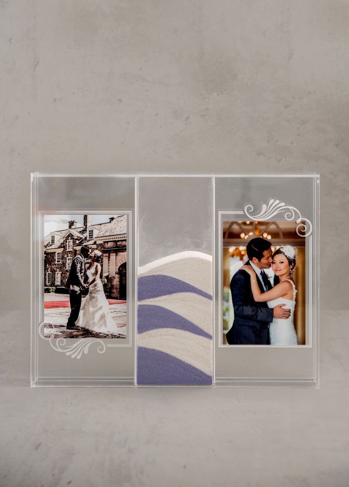 Personalized Sand Ceremony Shadow Box Photo Frame Sand Ceremony Shadow Box Burlap Wedding Decorations