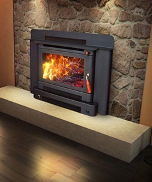 Wood Heater Ecomaxx Premium Zero Clearance Inbuilt Metallic Black Fireplace Wood Heater Black Fireplace Zero Clearance Fireplace