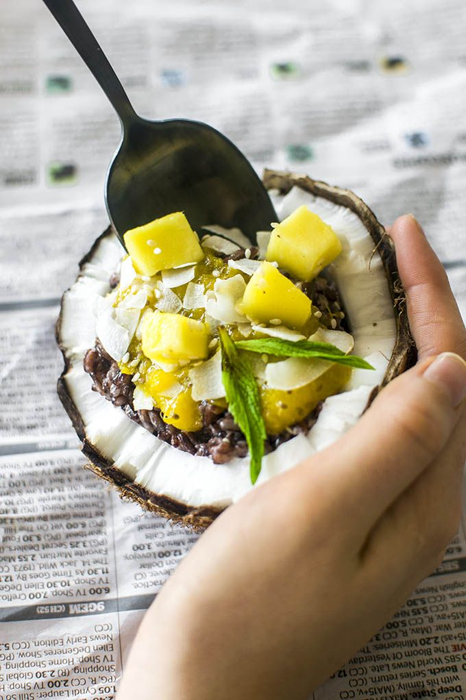 This Thai Mango and Coconut Black Rice Pudding is ...
