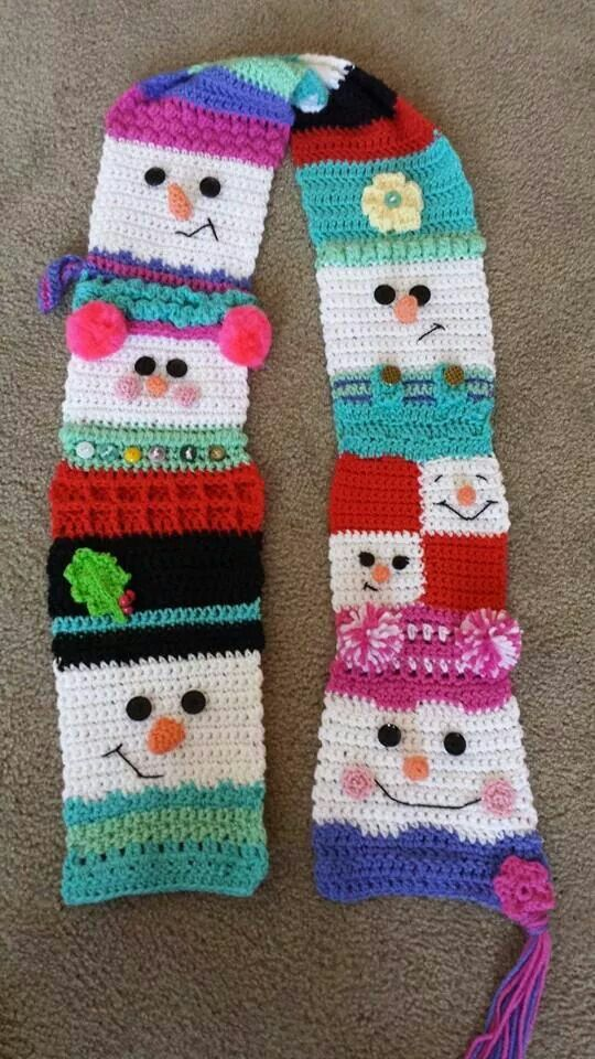 Cute Snowman Scarf Crochet And Knitting Projects Some Day To Be