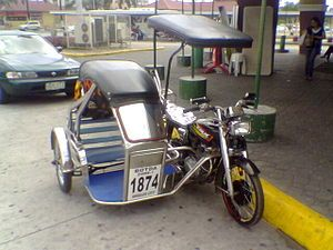 Next To Jeepney Tricycle Or Traysikel In Tagalog Is Another