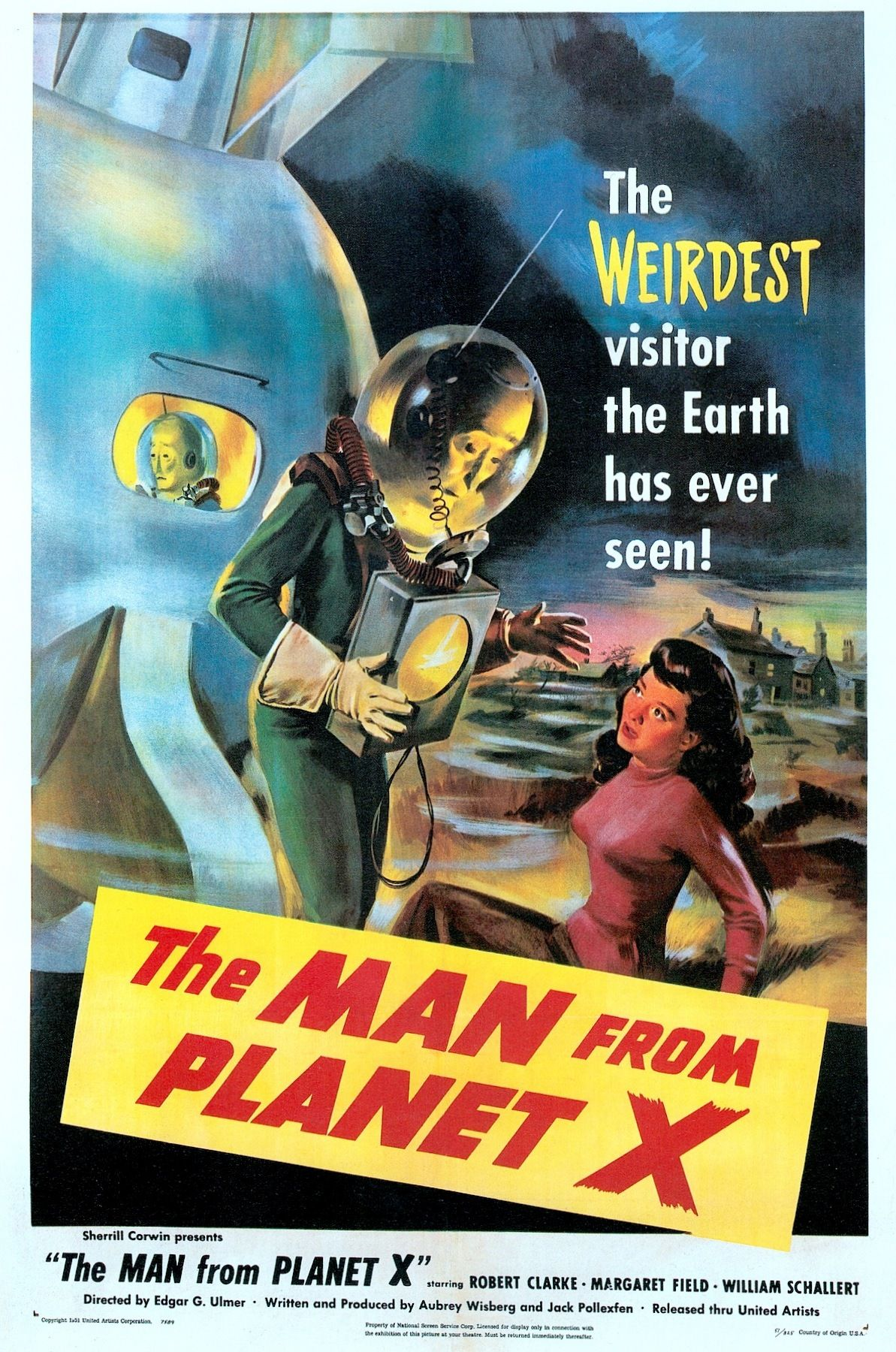 the man from planet x 1951 us one sheet from science