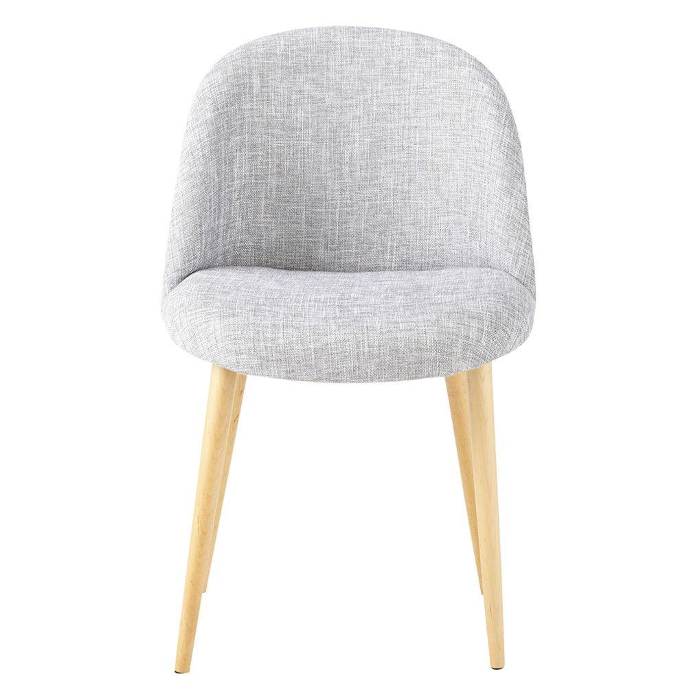 Hellgrau melierter Stuhl im Vintage-Stil und Birkenholz | Vintage ...