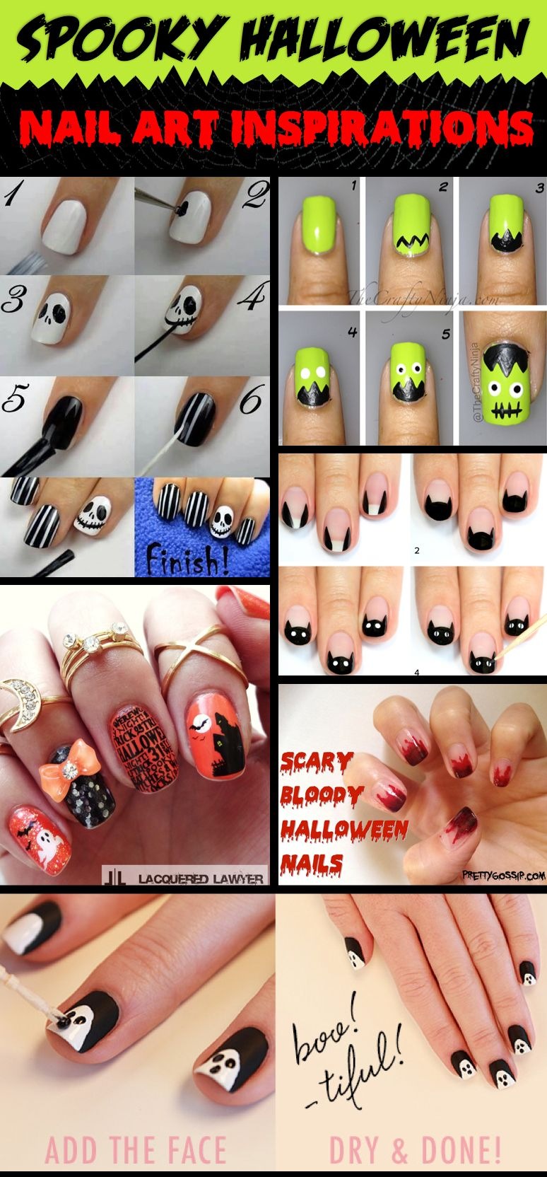 30 gorgeous and spooky halloween nail art inspirations that will here are 40 truly inspiring and mind blowing ideas for getting yourself some halloween themed nails for solutioingenieria Choice Image