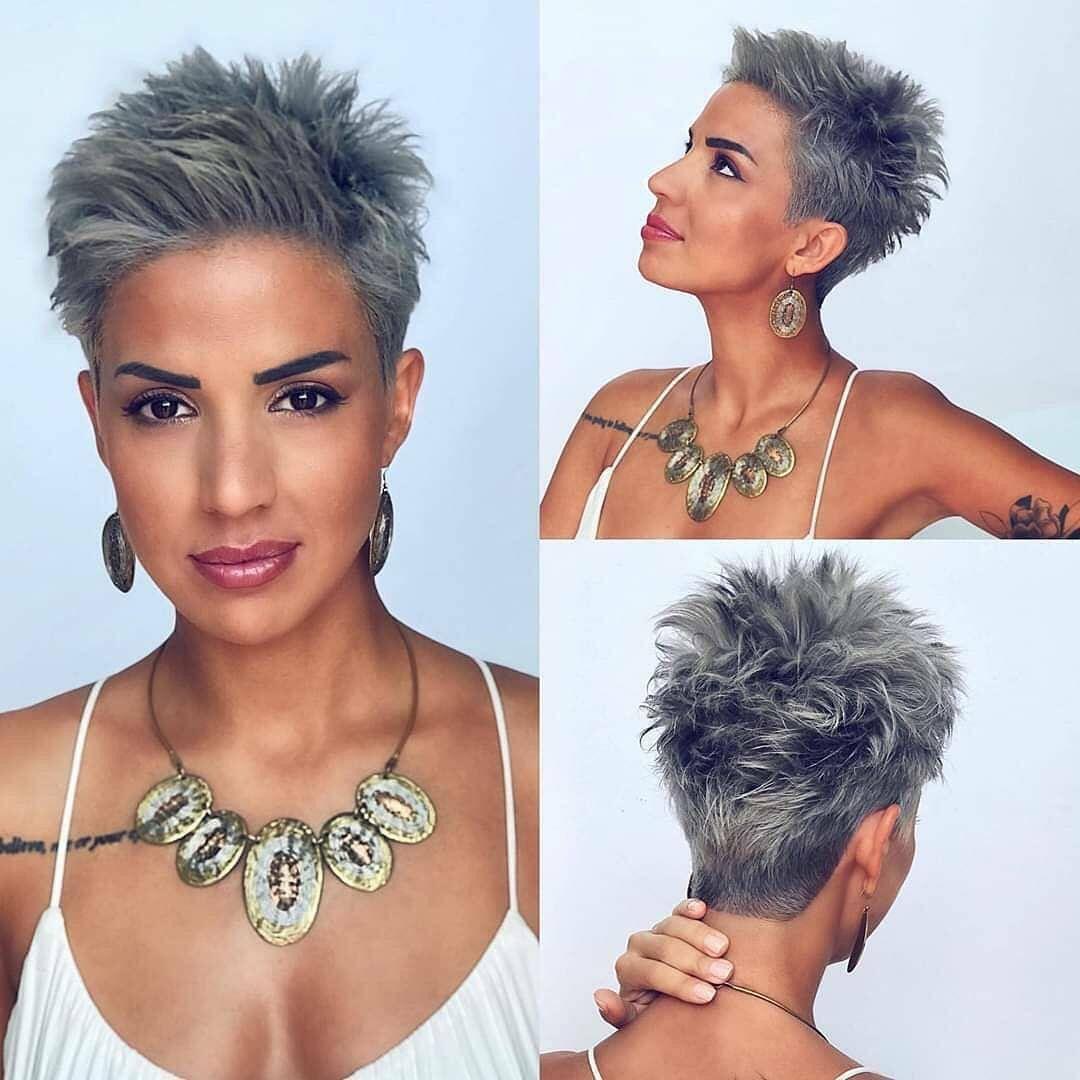 Short Grey Hair in 2020 | Short hair styles, Pixie haircut ...