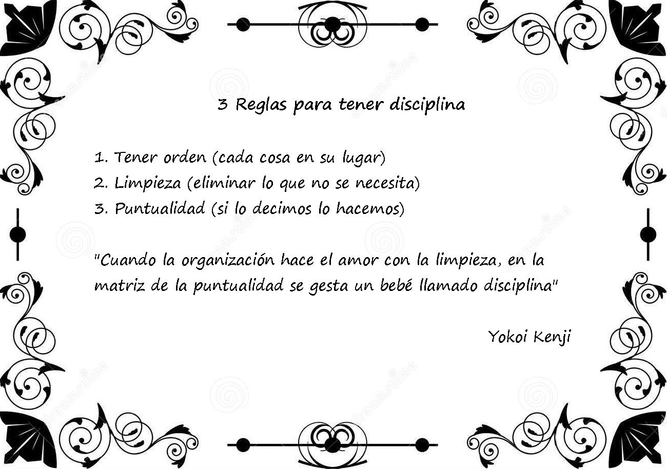 3 Reglas para tener disciplina...
